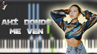 Ángela Aguilar - Ahí Donde Me Ven | Instrumental Piano Tutorial / Partitura / Karaoke / MIDI