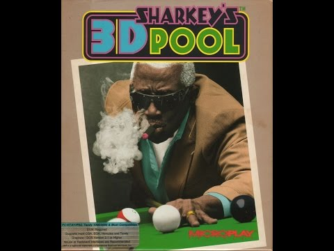 Sharkey's 3D Pool (Dos PC) Gameplay /Microplay / 1990