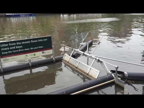 Trash Trap on the Yarra River
