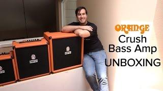 Orange Crush Bass Amps UNBOXING (Crush 25, 50, & 100)