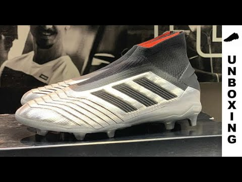 348d5fdc16a5 adidas Predator 19+ FG/AG 302 Redirect - Silver Metallic/Core Black/Red Kids