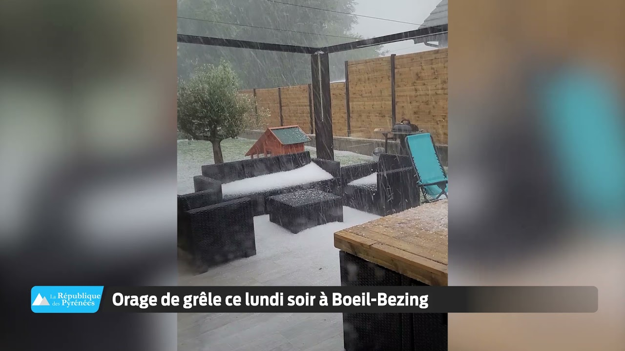 Orage de grêle ce lundi soir à Boeil-Bezing