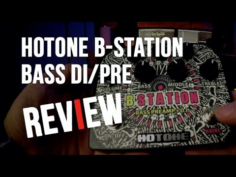 HOTONE B-STATION DI/PRE Review and Bass Guitar Recording Tip.