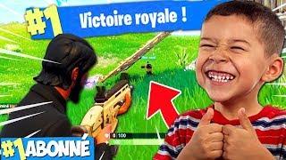 JE DÉBLOQUE LE 1ER TOP 1 POUR UN ABONNÉ ! (Fortnite Battle Royal)