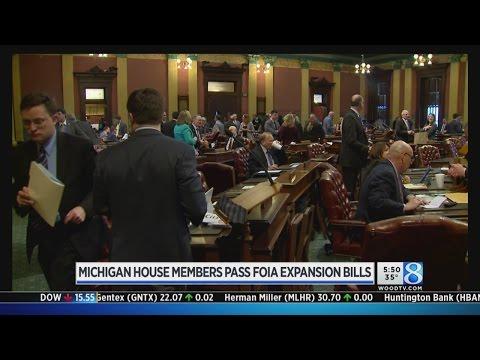 Michigan House members pass FOIA expansion bills