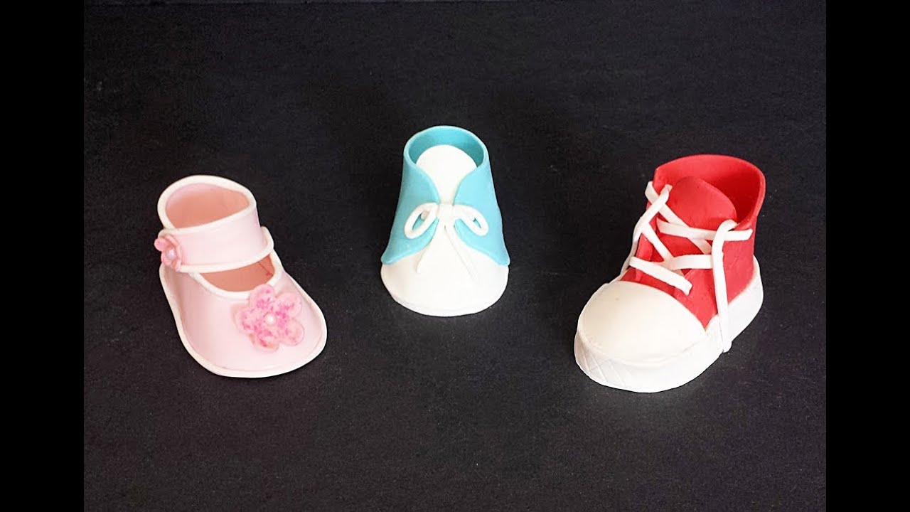 Fondant Baby Shoes - YouTube 601d51b12