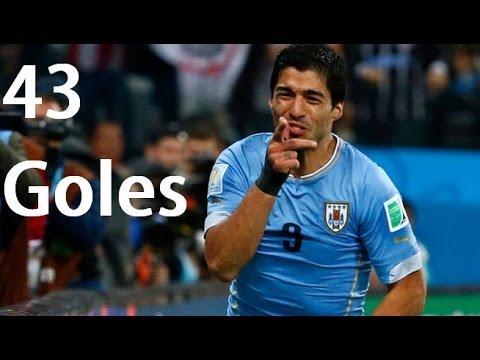 Luis Suárez Los 43 Goles en la Seleccion Uruguaya