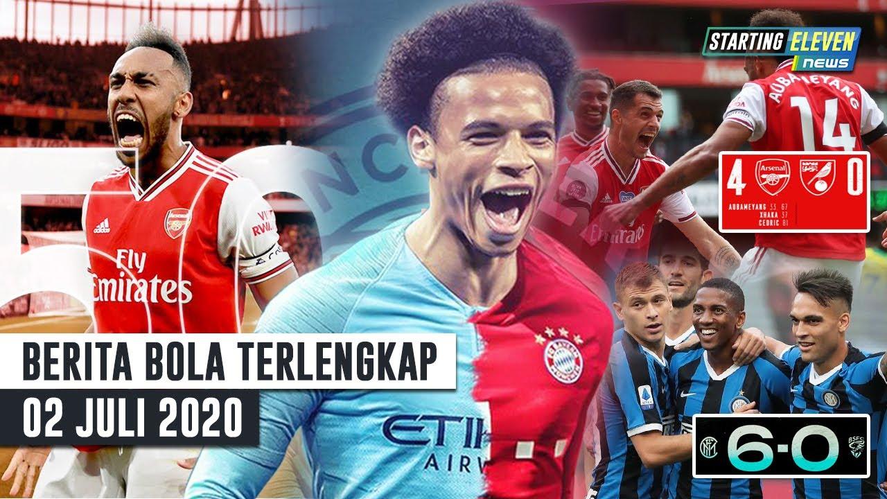 99% Sane Gabung Bayern 😱Arsenal & Inter Menang Besar 😱REKOR Aubameyang 50 Gol Tercepat - Berita Bola