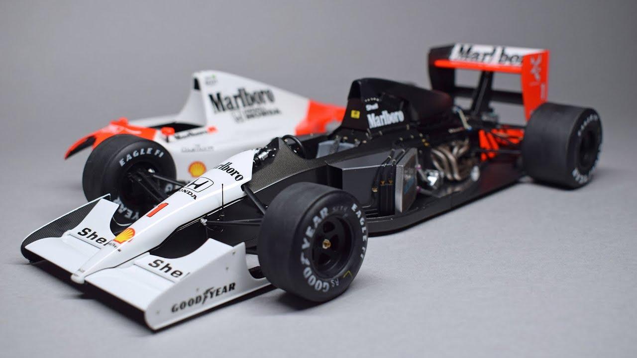 Building Senna's MP4/6 Full Build McLaren Fujimi 1/20 F1 Scale Model