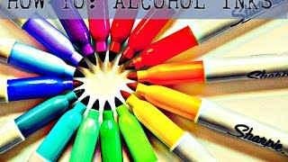 Make Alcohol Inks @ Home W/Sharpie's!!! EASY D.I.Y