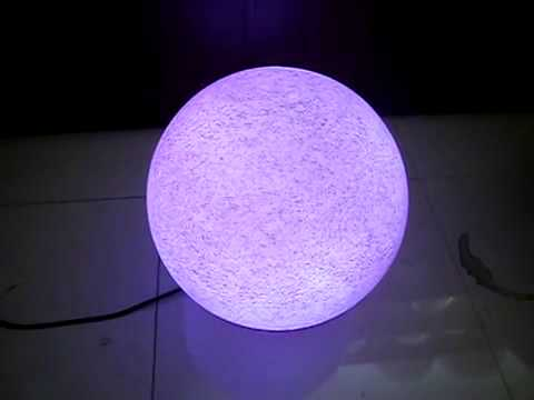 colour change RGB stone finished IP44 outdoor globe light