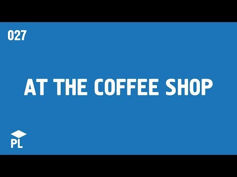 Learn European Portuguese (Portugal) - lesson 027 - Vocabulary: At the coffee shop