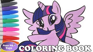 Download Mp3 MLP Princess Twilight Sparkle Coloring Book Pages My Little Pony Mane 6 Kids Art