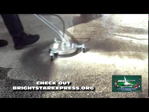 Demonstrating The Powerhorse Surface Cleaner Pressure Wash
