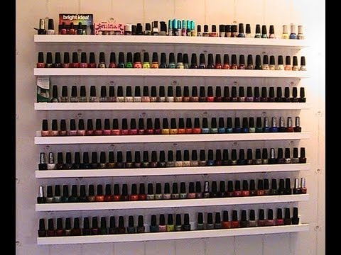 Updated Nail Polish Collection Room Tour