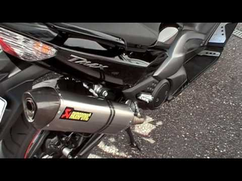 akrapovic yamaha t max racing linie mit abe youtube. Black Bedroom Furniture Sets. Home Design Ideas