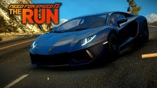 NFS The Run - Lamborghini Aventador - Slippy Downhill - i7 2600K - XFX HD 6870
