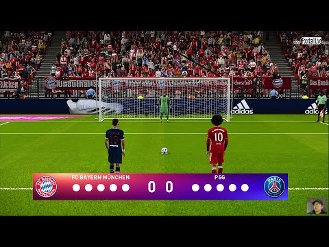 PES 2021 | Bayern Munich Vs PSG | Penalty Shootout | UEFA Champions League Gameplay | Neymar Vs Sane