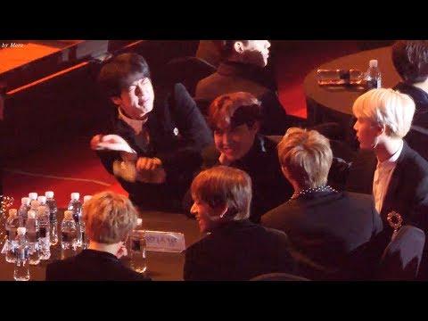 180125 방탄소년단 (BTS) 뉴이스트 (NU'EST) W - WHERE YOU AT 무대 리액션부자 진 직캠 Fancam (2018 서울가요대상) by Mera