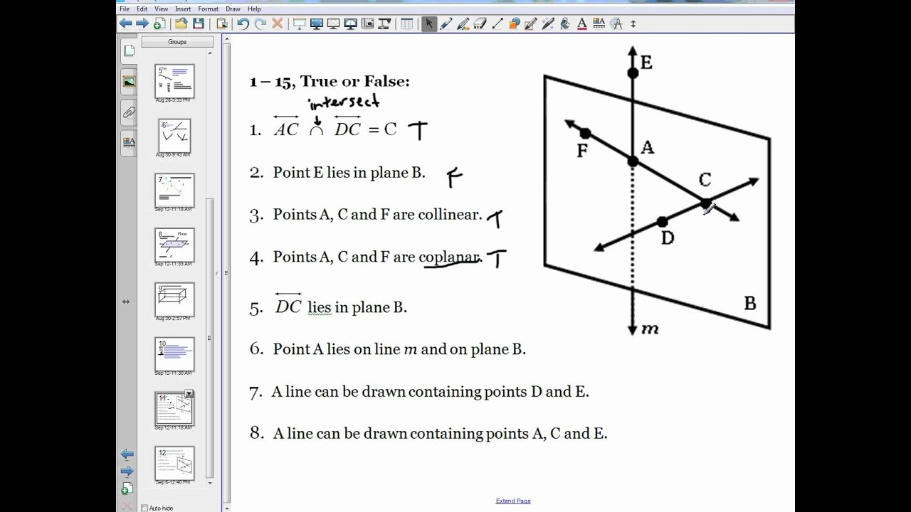 Point Line Plane Examples 1 1