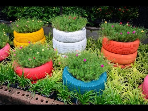 Garden Ideas Using Old Tires 7 tire garden ideas you must look on - youtube