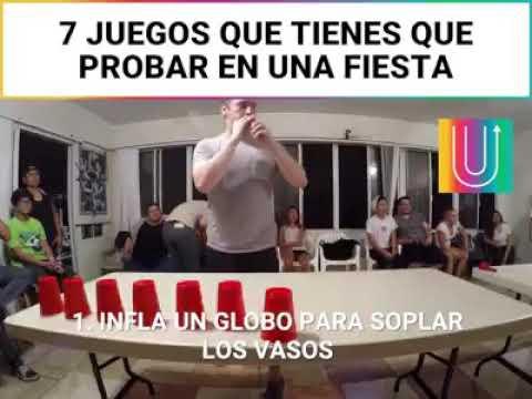 Juegos Con Vasos Para Una Fiesta Youtube