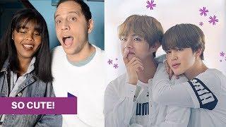 Video BTS VMIN MOMENTS REACTION (TAEHYUNG/V & JIMIN) download MP3, 3GP, MP4, WEBM, AVI, FLV Juli 2018