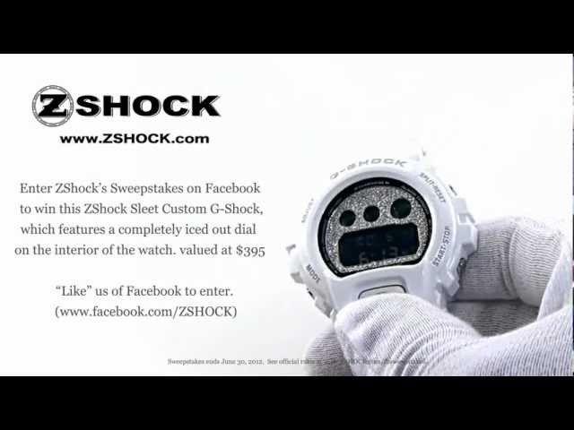 Sweepstakes Contest To Win A ZShock Alpine SLEET Custom G-Shock With An Iced Out Dial
