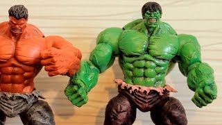 Incredible Hulk (Зеленый Халк) Marvel Select распаковка от Gikman.