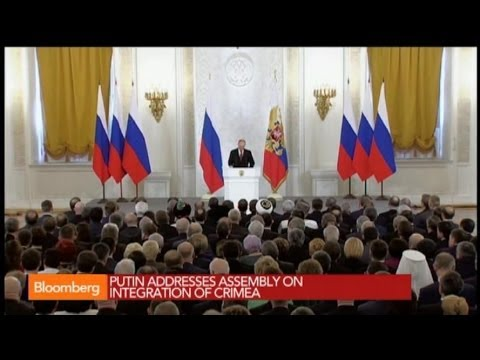 Putin Addresses Assembly on Crimea Integration