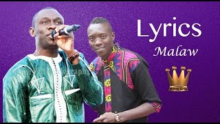 PAPE DIOUF- Malaw LYRICS -Feat Baye Babou