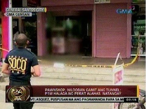 24 Oras: Pawnshop, nilooban gamit ang tunnel; P1M halaga ng pera't alahas, natangay