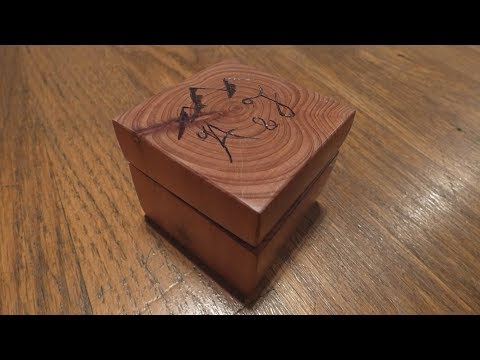 Making a Wooden Engagement Ring Box out of a Log