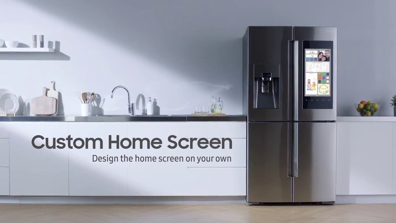 Custom Home Screen Samsung Family Hub Refrigerator The Good Guys