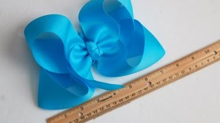 2 SUPERSIZED hair bow tutorials / DIY 7 inch Twisted Boutique bow