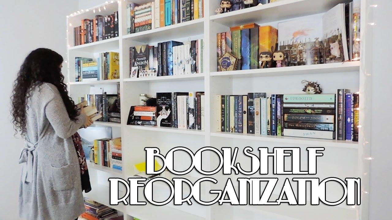 Reorganizing My New Bookshelves