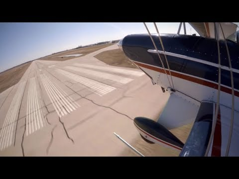 Landing BLIND at 100 MPH! - zero forward vis - Pitts S2B - Flight Training VLOG