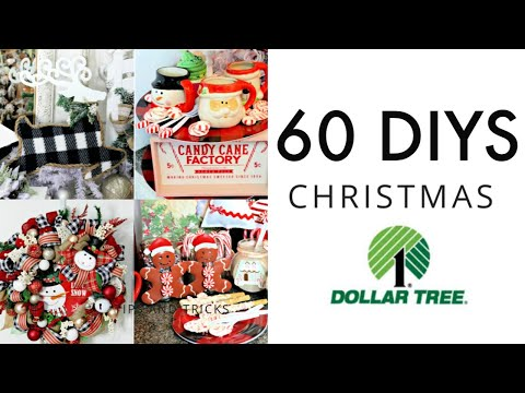 🎄60 DIY DOLLAR TREE CHRISTMAS DECOR CRAFTS🎄