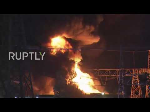 Greece: Power cuts across the country after huge fire at Aspropyrgos power station
