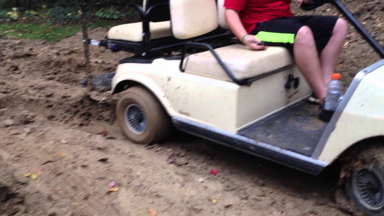 golf cart saved by the winch youtube