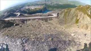 Zip World longest zip line Europe Penrhyn Quarry Bethesda death slide fastest highest extreme