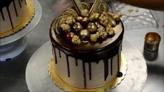 Украшение тортов | Как украсить торт на день рождения шоколадом