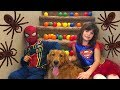 Super Girl SAVES Earl From Spiderman!