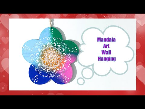 unique-mandala-art-using-wooden-plank-|-cheap-and-easy-dollar-store-wooden-plank-craft