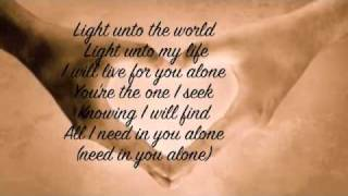 I Will Follow- Chris Tomlin (With Lyrics)