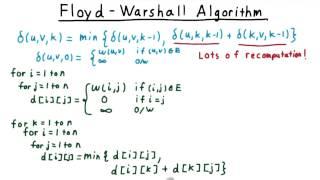 The Floyd-Warshall Algorithm - GT - Computability, Complexity, Theory: Algorithms