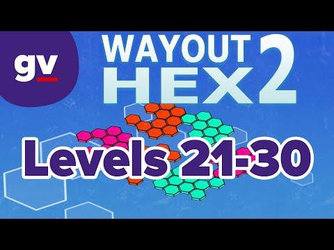 WayOut 2: Hex - Walkthrough Levels 21-30  