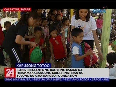Ilang sinalanta ng Bagyong Usman, hinatiran ng tulong ng GMA Kapuso Foundation