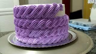 Decoração de bolo com bico 22 - Estilo Cordinha