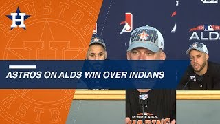 HOU@CLE Gm3: Hinch, Springer and Gonzalez on sweep